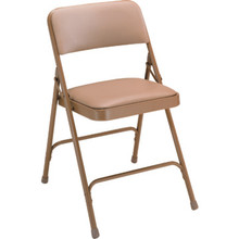 NPSC Beige Vinyl Seat Folding Chair Package Of 4