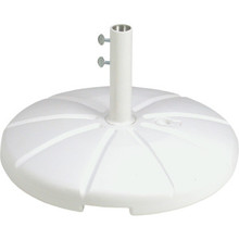 Umbrella Base White Resin 35 Lbs