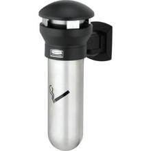 Rubbermaid Black Wall Mount Cigarette Receptacle