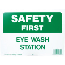 """Safety First Eye Wash Station"" Sign"