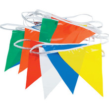 50' Multicolored Polyethylene Pennant Flags
