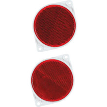 Red Round Plexiglas Reflector Package Of 2