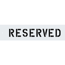 """""""Reserved"""" Parking Lot Stencil"""