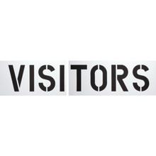 """Visitors"" Parking Lot Stencil"