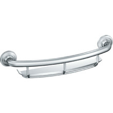 Moen 16 Grab Bar With Corner Shelf Chrome Finish