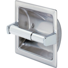 Franklin Brass Bright Polished Stainless Steel Toilet Paper Dispenser Recessed