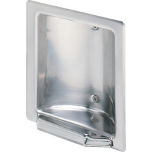 Franklin Brass Polished Stainless Steel Recessed Soap Holder