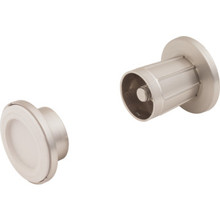 Die-Cast Shower Rod Bracket Satin Nickel 2Pk