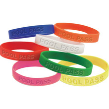 Recreational Pool Pass Bracelet, Red Package Of 100