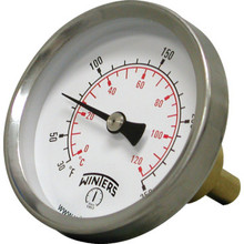 "Winters 2-1/2"" Dial 30-250F Hot Water Thermometer With 1/2"" NPT"