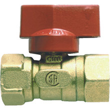"1/2"" FIP X 1/2"" FIP BRASS GAS BALL VALVE"