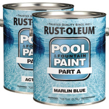 2 Gallon Rust-Oleum High Build Epoxy Pool Paint Kit - Marlin Blue