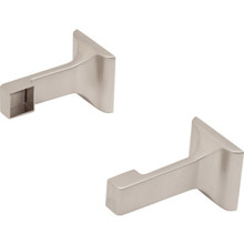 "Bar Bracket 3/4"" Satin Nickel Package Of 1 Pair"