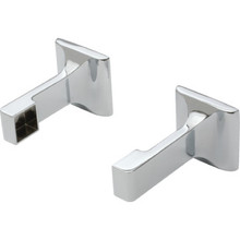 "Bar Bracket 5/8"" Satin Nickel Package Of 1 Pair"