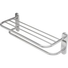 "Franklin Brass Stainless Steel Towel Shelf And Bar 24"" Exposed Mount"