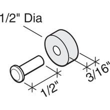 """.5""""L Sliding Window Wheel Steel , Package of 4"""