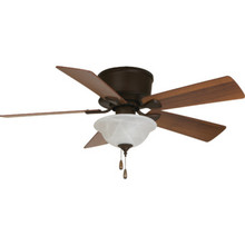 "Seasons 44"" Hugger-Mount Ceiling Fan Bronze Bowl Light Kit"