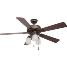 "Seasons 52"" Ceiling Fan With Adjustable Down Light Oil Rubbed"