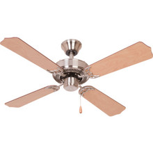 "Seasons 42"" Dual-Mount Ceiling Fan Brushed Nickel"