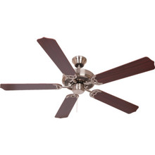 "Seasons 52"" Dual-Mount Ceiling Fan Brushed Nickel"