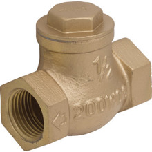 "Brass Swing Check Valve 1/2 "" FIP x FIP"