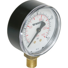 "Watts 2-1/2"" Dial 0-200 PSI Pressure Gauge With Bottom Mount"