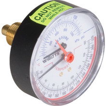 "Watts 3"" Dial 60-320 PSI Pressure / Temperature Gauge With Center Back Mount"