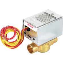 "Honeywell 24 Volt Hydronic Zone Valve With 1/2"" Connections SPST End Switch"