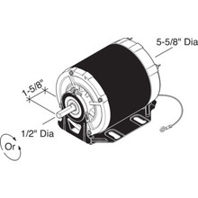 "Century GF2024 5.6"" 1/4 Horse Power Commercial Blower Drive Motors"