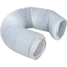 "Deflect-O 4"" White Vinyl Flexible Duct"