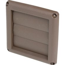 "4"" LOUVERED VENTHOOD - BROWN"