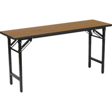 """Rectangle Folding Table 29Hx18Wx72""""L Medium Oak"""