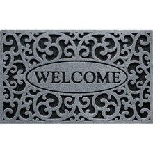 "18 x 30"" Outdoor Floor Mat Grey"