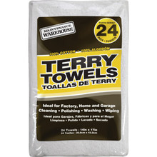 """Maintenance Warehouse 14 x 17"""" Terry Cloth Cleaning Towel Package Of 24"""