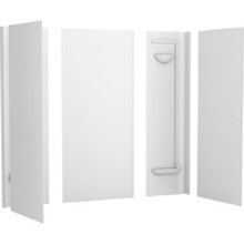 "Swan Veritek Tub Wall Surround Five-Piece White Fiberglass 57"" High x 28"" to 32"" Deep x 60"" Wide"