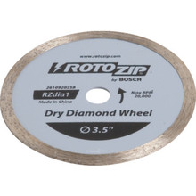 "RotoZip ZipMate 3-1/2"" Dry Diamond Cut-Off Wheel"