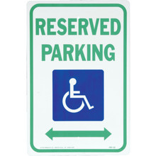 """18 x 12"""" Aluminum """"Reserved Parking/Handicapped"""" Sign"""