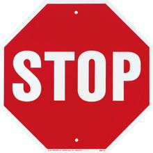 "24 X 24"" Octagonal Aluminum ""Stop"" Sign"