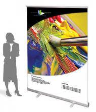 "Exposcreen Retractable Banner Stand 60"" Silver Graphic Package"