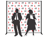 8'x8' Step & Repeat Banner with Stand & Case.