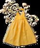 Sama Baby:  Organic Halter Dress in Daffodil