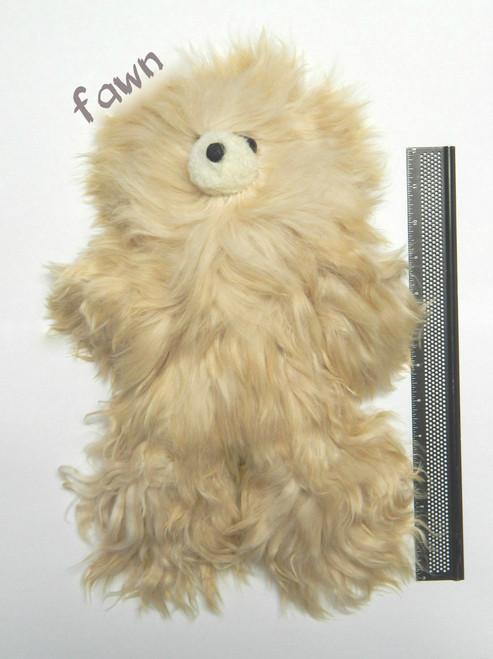 Suri Alpaca Fawn Teddy Bear