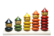 Maya Organic:  Peppy Five Stacking Toy