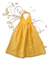 Sama Baby:  Organic Halter Dress in Daffodil
