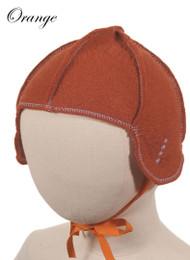 Little Deer: Pilot Cap in Pumpkin