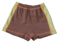 Cloud Mine: Retro Cars Brown & Green Shorts
