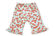 Kumquat - Red Blossoms Ruffled Pant