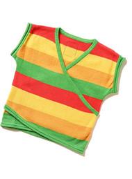 Happy Green Bee:  Rainbow Knit Kimono Top