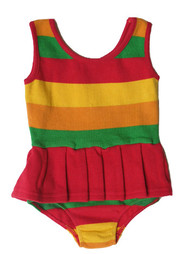 Happy Green Bee:  Swim & Sport Suit in Rainbow