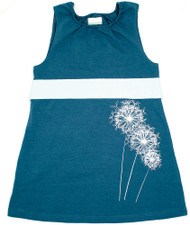 Nohi Kids:  Dandelion Dress in Ocean, front